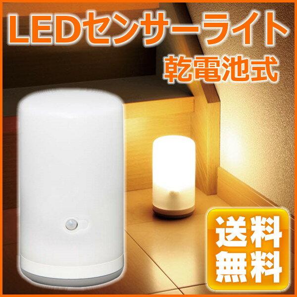 センサーライト 乾電池式LEDセンサーライト BSL-10L あす楽対応 ホワイト 【送料無料】[ガーデニング 庭 玄関 廊下]【アイリスオーヤマ】[ぽっきり]