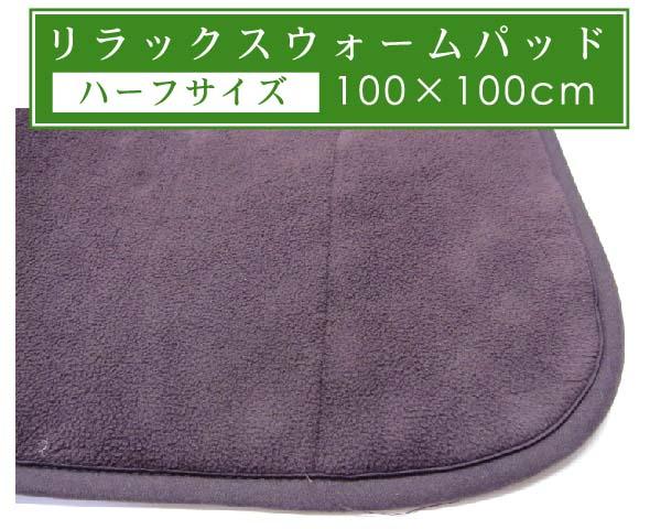■省エネ応援!冬のエコアイテム!寒い冬を暖かく!京都西川RELAX WARM PAD リラックスウォームパッド(100×100cm)■