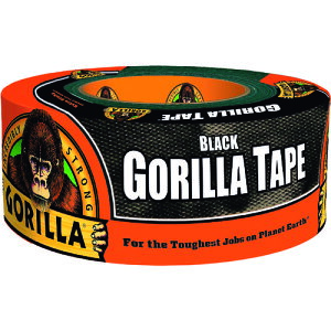 『ゴリラテープ』 ブラック kure クレ黒 幅48mm×長さ11m超強力 厚手 ダクトテープ ガムテープ 強力 布テープ 海外 ゴリラグルー (GORILLA GLUE ) 全天候 耐水 耐熱 手で切れる 屋内 屋外 水回り 粗面