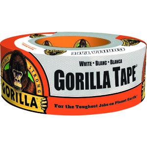 『ゴリラテープ』 ホワイト kure クレ白 幅48mm×長さ11m超強力 厚手 ダクトテープ ガムテープ 補修テープ 強力 布テープ ゴリラグルー (GORILLA GLUE ) 全天候 耐水 耐熱 手で切れる 屋内 屋外 水回