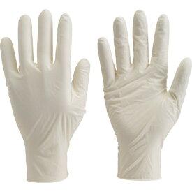 TRUSCO 使い捨て極薄手袋 ホワイト 使い捨て手袋 天然ゴム 使い捨て ゴム手袋 粉なし 粉無 パウダーフリー 使い捨て ニトリル ゴム 手袋 S M L(100枚入)TGL493