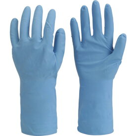 TRUSCO まとめ買い 耐油耐薬品ニトリル薄手手袋(10双組)Lサイズ DPM236410P