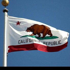 カリフォルニア フラッグ 州旗 タペストリー ビッグフラッグ California アメリカン 雑貨 西海岸 インテリア バナー 大型 90cm×150cm メール便無料