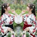大正ロマン 袴 はかま 和服 着物 ドレス ロング 花柄 ロリータ ロリィタ服 ゆったり 大きめ かわいい ゴスロリ メイド…