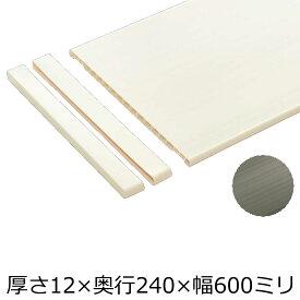 樹脂棚板(12×240×600・2枚入り)【南海プライウッド】【NANKAI】【じゅうたす・住+】★大型便★