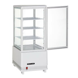 70L冷蔵ショーケース70L/ホワイト【HJR-KR70WT】業務用冷蔵庫 4面ガラス冷蔵ショーケース 送料無料 フリーザー ショーケース