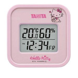 [14日★P5倍]タニタ デジタル温湿度計(ハローキティ) ピンク TT558KTPK温度計 温湿度計 湿度計 TANITA キティ インフルエンザ 熱中症 リモートワーク おうち時間 デジタル時計 タニタ 【D】