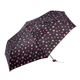 和柄 折りたたみ傘 50cm 桜柄 UVカット加工付【フラットタイプ 2色】