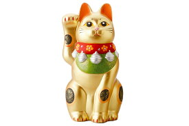 招き猫 金運 縁起物/ 黄金招き猫(大) /置物 インテリア ネコ リビング 玄関 開店祝い 母の日 結婚祝い プレゼント 贈り物