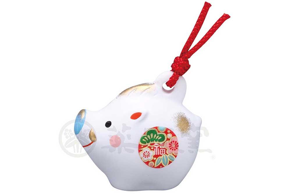 干支 置物 亥 猪 縁起/ 錦彩招福寿々亥(土鈴・極小) /粗品 販促 景品 業務用 家庭用