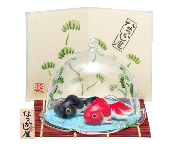 夏のインテリア 夏あそび金魚(水草ドーム付)