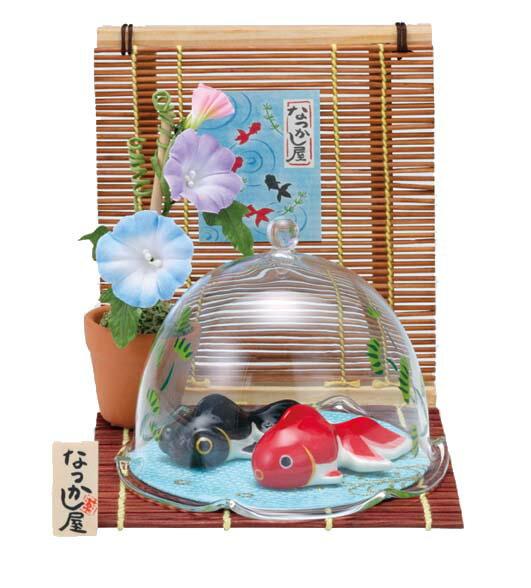 夏のインテリア 夏あそび金魚(朝顔・水草ドーム付)