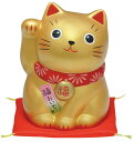 錦彩福おいで招き猫(中・金)