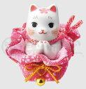 幸運 招福 縁起物 招き猫 彩絵桜巾着おねがい猫