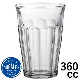 DURALEX デュラレックス/ ピカルディ 360cc /グラス タンブラー 業務用 家庭用 ホット カフェ おしゃれ ガラス コップ 強化 レンジOK 熱湯OK 割れにくい