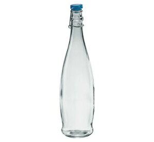 ガラス ボトル 蓋 栓/ インドロ(青) 1000 /業務用 家庭用 お酒 ワイン ジュース 水 お冷 おしゃれ おもてなし パーティー ドレッシング たれ つゆ