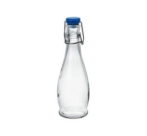 ガラス ボトル 蓋 栓/ インドロ(青) 355 /業務用 家庭用 お酒 ワイン ジュース 水 お冷 おしゃれ おもてなし パーティー ドレッシング たれ つゆ