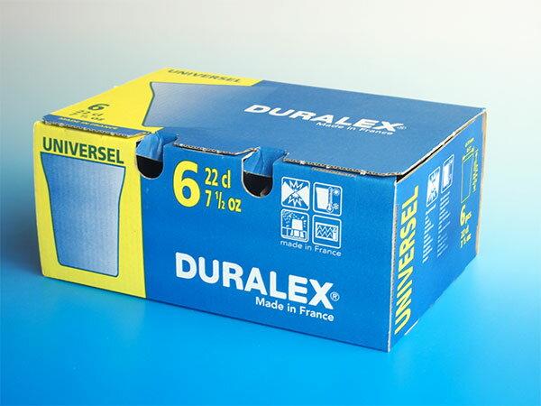 熱湯 レンジ 食洗機OK デュラレックス ユニバーサルグラス■内箱入り6個セット■ グラス タンブラー DURALEX
