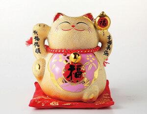 ラッピング無料 ギフト 贈り物 プレゼント/ 金福招き猫(桃) /敬老の日 新築祝い 引き出物 母の日 父の日