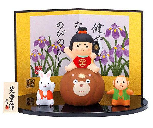 五月人形 コンパクト 五月人形 錦彩金太郎飾り