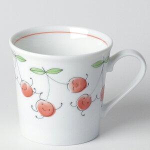 軽い マグカップ 薄手/ 軽量笑顔さくらんぼマグ /可愛い 家庭用 贈り物 プレゼント
