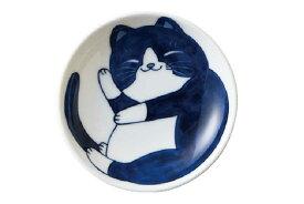 軽量 薄手 小皿 10cm/ ねこちぐら 3.0皿 ハチワレ /猫 ネコ 可愛い 家庭用 和み 癒やし