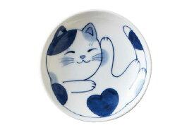 軽量 薄手 小皿 10cm/ ねこちぐら 3.0皿 ミケ /猫 ネコ 可愛い 家庭用 和み 癒やし