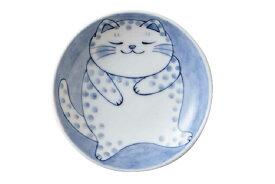 軽量 薄手 小皿 10cm/ ねこちぐら 3.0皿 ブチ /猫 ネコ 可愛い 家庭用 和み 癒やし /和食器
