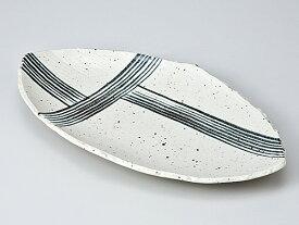和食器 焼物皿/ 黒縞帯焼物皿 /焼き物皿 ステーキ皿 焼き魚 焼き鳥 串カツ 業務用 家庭用 Plate for Grilled Food