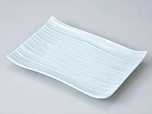 和食器 焼物皿/ 青磁すだれ8.0焼物皿 /焼き物皿 ステーキ皿 焼き魚 焼き鳥 串カツ 業務用 家庭用 Plate for Grilled Food