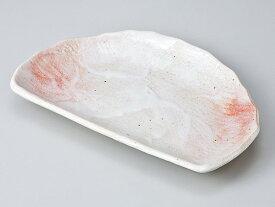 和食器 焼物皿 半月/ 桜志野半月皿 /焼き物皿 ステーキ皿 焼き魚 焼き鳥 串カツ 業務用 家庭用 Plate for Grilled Food(semicircular)