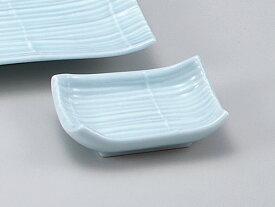和食器 焼物皿/ 青磁すだれ小皿 /同デザインの皿と千代口有り 焼き物皿 ステーキ皿 焼き魚 焼き鳥 串カツ 業務用 家庭用 Plate for Grilled Food (There is a pair of dishes)