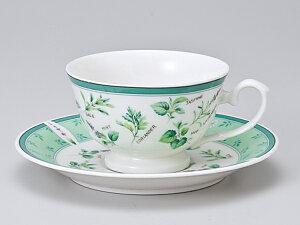 コーヒーカップ ソーサー/ グリーンハーブ兼用コーヒーカップ&ソーサー /碗皿 業務用 ホテル レストラン おしゃれ