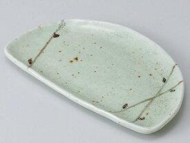 和食器 焼物皿/ ヒワ均窯半月皿 /焼き物皿 ステーキ皿 焼き魚 焼き鳥 串カツ 業務用 家庭用 Plate for Grilled Food