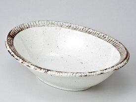 和食器 多用鉢/ 渕錆粉引楕円鉢 /大鉢 中鉢 盛り鉢 盛り皿 おしゃれ 業務用 Versatile Shallow Bowl