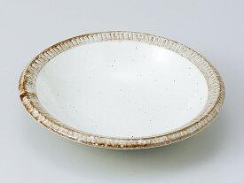 和食器 中鉢/ 渕錆粉引渕十草 5.0鉢 /陶器 業務用 家庭用 Medium Sized Bowl