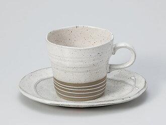 Of white fuuzu light coffee cup & saucer