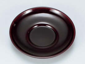 会津漆器 茶托 丸皿/ 溜 ダルマ茶托(5枚組) /来客 おもてなし 接客 /和食器