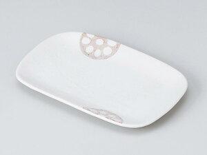 和食器 焼物皿/ れんこん長角皿(白) /焼き物皿 ステーキ皿 焼き魚 焼き鳥 串カツ 業務用 家庭用 Plate for Grilled Food