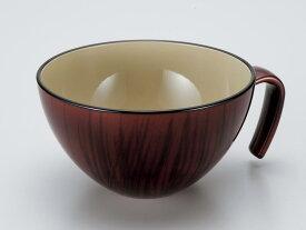 / 【和食器 漆器 子供 スープ椀】手付スープ椀 チーク /和食器