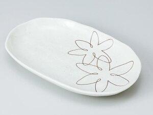 和食器 焼物皿/ ゆうか白スパ皿 /焼き物皿 ステーキ皿 焼き魚 焼き鳥 串カツ 業務用 家庭用 Plate for Grilled Food