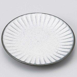 小皿 醤油皿/ 炭化土しのぎ小皿(ホワイト) /刺身 お新香 梅干し 珍味 陶器 業務用 家庭用 Small sized Plate