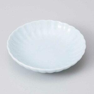小皿 醤油皿/ 青磁菊型 丸3.0皿 /刺身 お新香 梅干し 珍味 陶器 業務用 家庭用 Small sized Plate