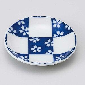 小皿 醤油皿/ 市松桜 青30皿 /刺身 お新香 梅干し 珍味 陶器 業務用 家庭用 Small sized Plate