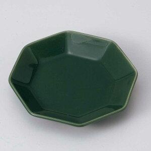 小皿 醤油皿/ 七色小皿(八角/緑) /刺身 お新香 梅干し 珍味 陶器 業務用 家庭用 Small sized Plate