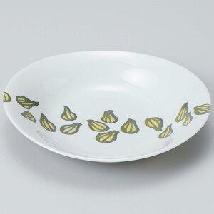 和食器 大皿 麺皿/ 軽量オーバルカレー皿 らっきょう /メインディッシュ 和風パスタ 冷やしうどん 冷やし中華 冷やしそば 業務用 家庭用 家族分購入推奨 Noodle Plate