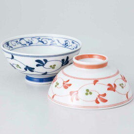 茶碗 ダイエット茶碗/ 内外栄唐草赤 健康茶碗 /業務用 家庭用 Rice bowl