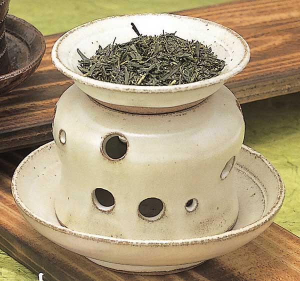 白唐津茶香炉