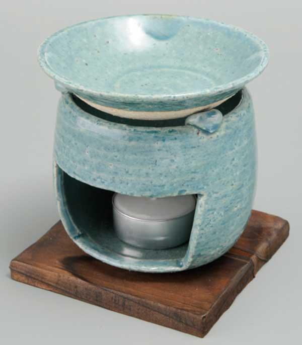 茶香炉 ブルー