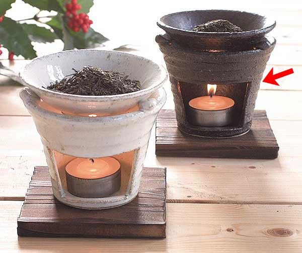 茶香炉 黒いぶし